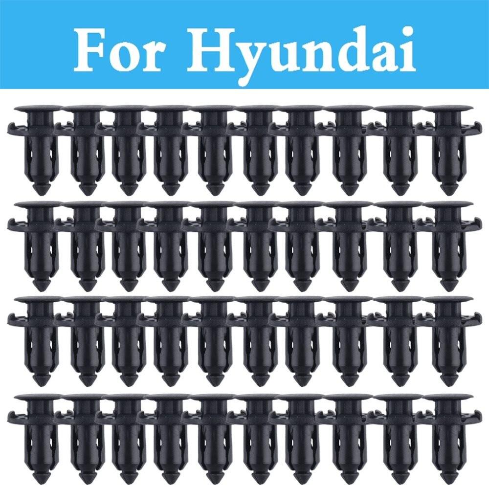 50pcs Car Door Panels Fastener Clip For Hyundai Elantra Sonata Tucson Santa Fe