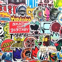 100 autocollants graffiti de style classique, étiquettes de skateboard, cool pour ordinateur portable, voiture et valise, sans répétition