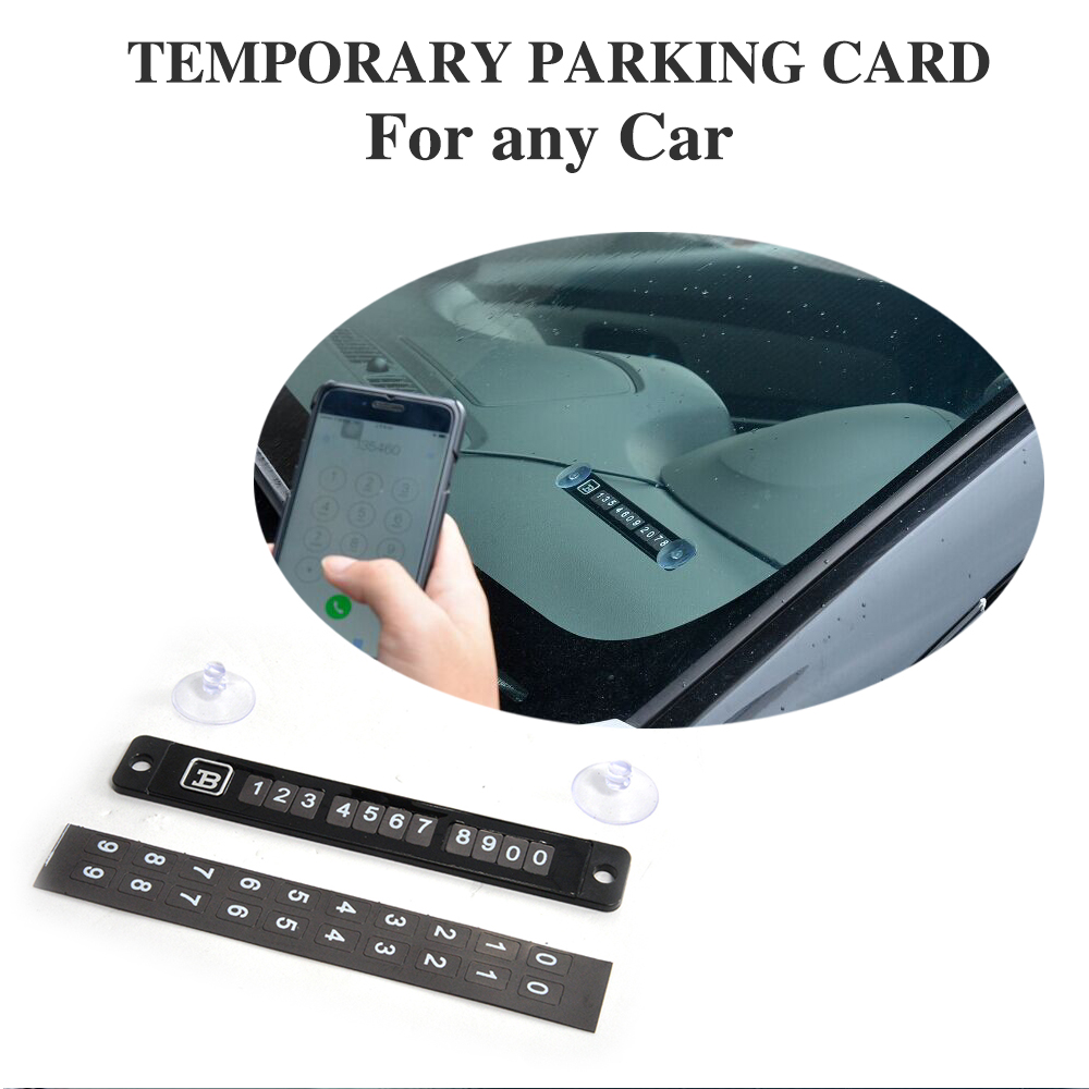 Magnetic Temporary Parking Card Telephone Number Plate Car Sticker with Phone Number Sheet For Audi A4 A6 A3 A5 For BMW E46 E39