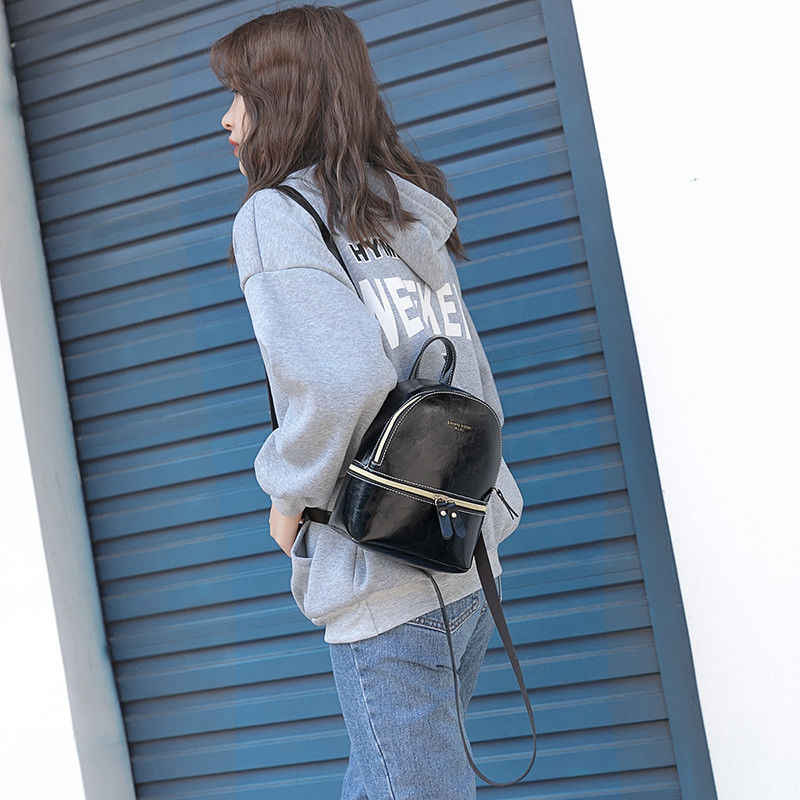 2019 חדש נשים עור מפוצל רוכסן תרמילי מיני נסיעות בית ספר תיק מתוק מתנה תכונה קטן חגורת Bagpack שקיות עבור נשים 2019