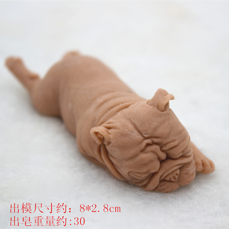 bulldog Mould Silicone soap mould 3D dog shape craft clay cement mould DIY Ceramic Concrete Dog Clay Silicone Mold