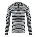 100% lã merino crianças zip top roupa interior térmica camisa de manga comprida T cor da camisa listrada de meninos meninas crianças