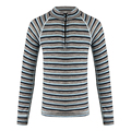 100%merino wool kids zip top shirt thermal underwear long sleeve T shirt color striped of boys girls children