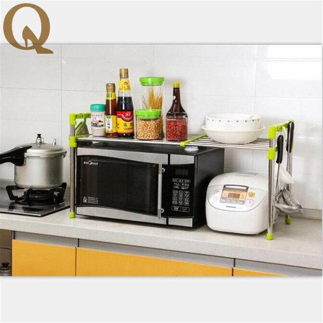 US $39.77 32% OFF|Mehrzweck Regal mit doppelschichten hohen qualität  mikrowelle oder ofen regale küche storage und erweiterung bad organizer in  ...