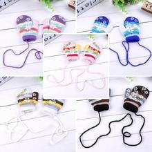 SDPRUS, зимние теплые детские перчатки со снежинками, модные варежки, милые детские перчатки для девочек с ремешком, полностью покрытые пальцами