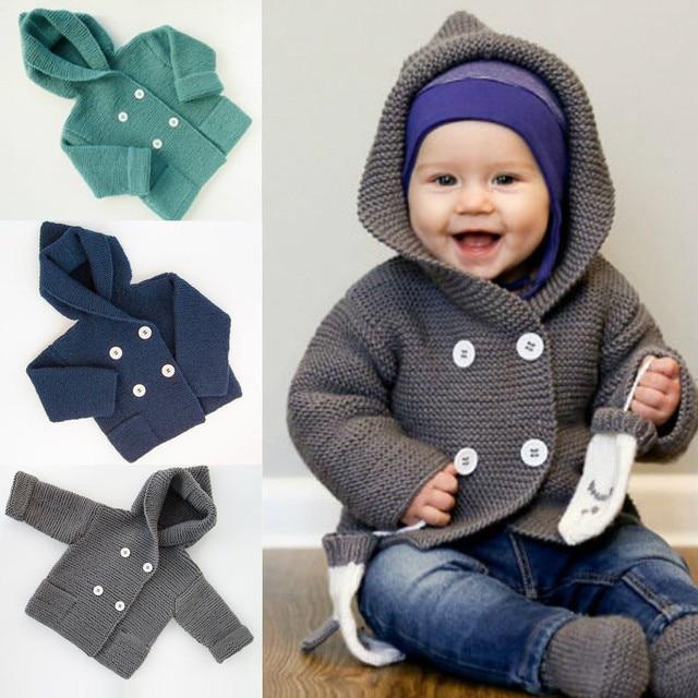 2d0e13024 Kids Sweater Autumn Winter Children Hooded Toddler Coat Girl Boy ...