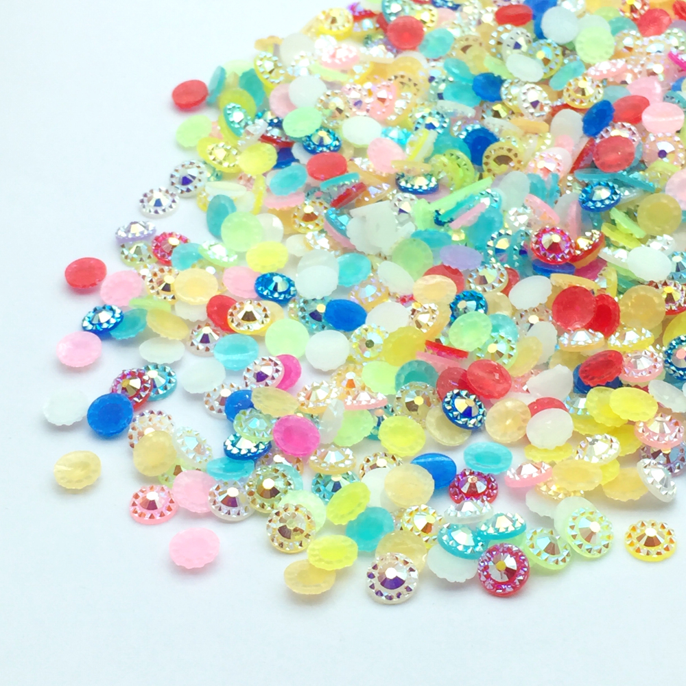 ZEROUP Crystal AB Stone Flatback Resin Cabochons Nail Art Strass Rhinestone  Jewelry Components 1000-in Jewelry Findings   Components from Jewelry ... 80715f742006