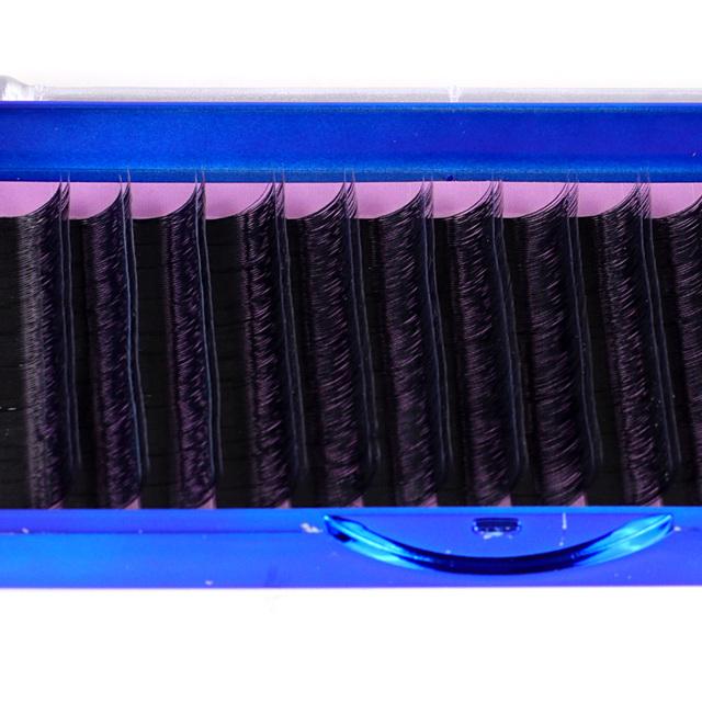 0.07mm Volumen 3D Dos-Capa de Seda Extensiones de Pestañas Individuales 0.07 Dos Rizos