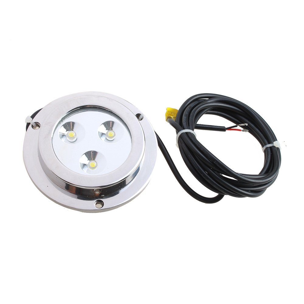 CNIM Hot 3*2w Blue Stainless Steel IP68 Waterproof LED Marine Underwater Light Boat Yacht light