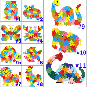 26 Patterns Wooden Animal Alph