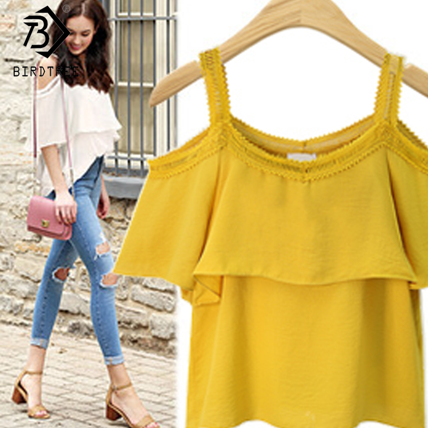 2018 Summer New Arrival Womens Tanks Korean Casual Style Solid Patchwork Lace Tanks Sling Tops Clothing Hots Sale D86902Q