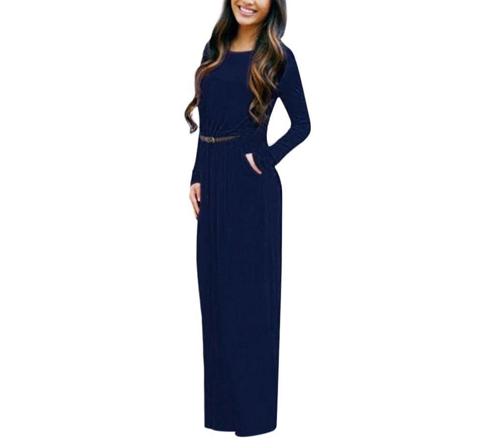 VESTLINDA Vintage Vestidos Longo Jurken Women Maxi Dress Full Sleeve Casual Dress Autumn A Line Solid Ropa Mujer Long Dress 7