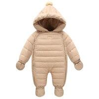 Śliczne buty zimowe kombinezony dla niemowląt z rękawic 6-24 M dla dzieci kostium dla nowy rok niemowląt płaszcz dół baby boy kurtki dla dziewczyn