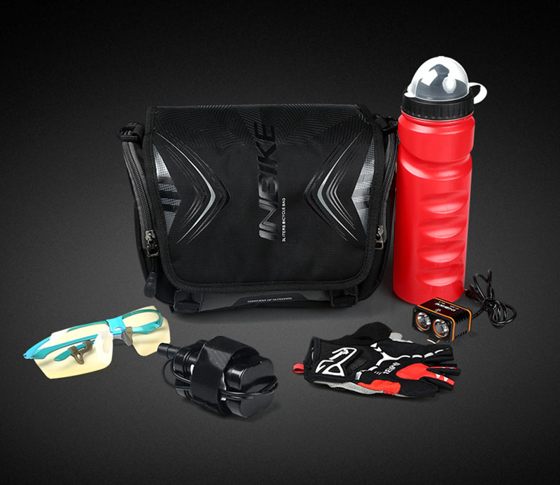 New Arrival INBIKE Waterproof Large Capacity Bike Front Beam Package Outdoor Sports Riding Mountain Bike Saddle Bag Net Bag new arrival inbike waterproof large capacity bike front beam package outdoor sports riding mountain bike saddle bag net bag