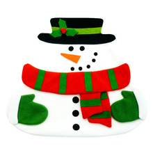New Christmas Santa Claus Placemats Snowman Mat Place Mat Pads With Napkin Dinner Table Christmas Supplies Decorations New Year