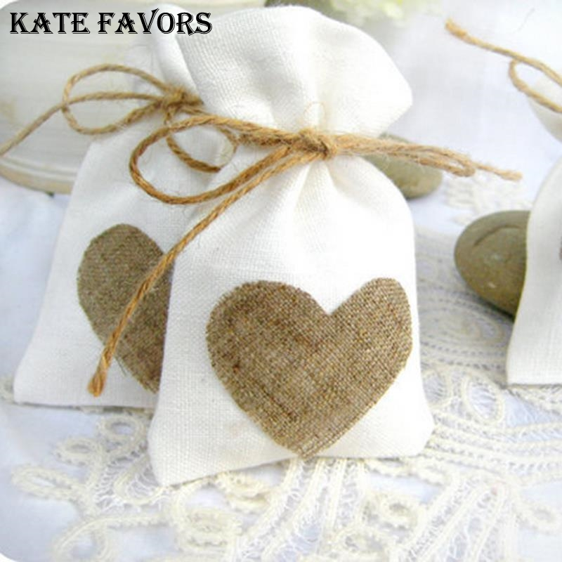 Image 2 - 10x14cm White Linen Drawstring Bag Vintage Natural Burlap Gift Candy Bags Wedding Candy Bags Jute Gift Jewelry Pouchbag fbag pouchbag jewelry -