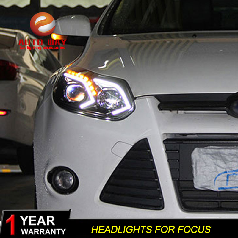 Car styling case for Ford Focus 2012 2014 Headlights LED Ford Focus Headlights DRL Lens Double Beam HID LED Headlight Xenon-in Car Light Assembly from Automobiles & Motorcycles    3