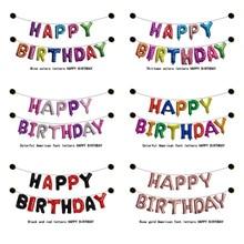 купить 13 PCS Balloon Letters 1st Baby Happy Birthday Decoration Balloon Set Boy Girl Adult 16 Inches 32 Inches дешево
