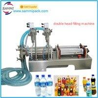 Ev Aletleri'ten Vakumlu Gıda Yalıtıcılar'de Iyi fiyat G1WY 2Y 100 Pnömatik çift kafa sıvı dolum makinesi su  içecek 10 ila 100 ml