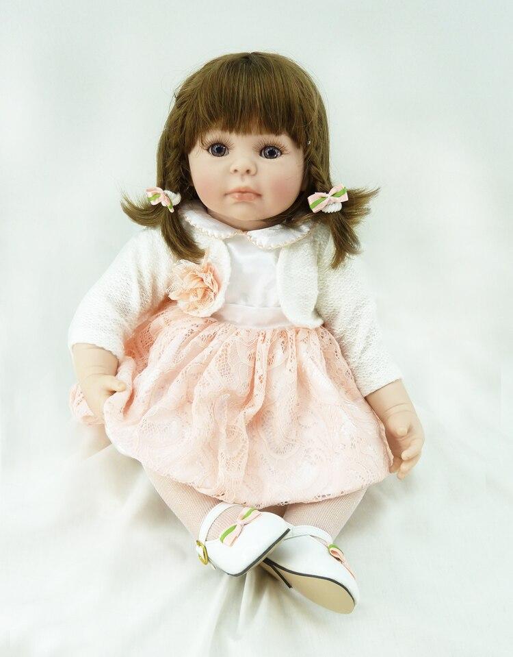 "Pursue 20""/50 cm New Handmade Reborn Toddler Girl Baby Doll Silicone Vinyl Princess Girl Doll for Children Girls Christmas Gift"