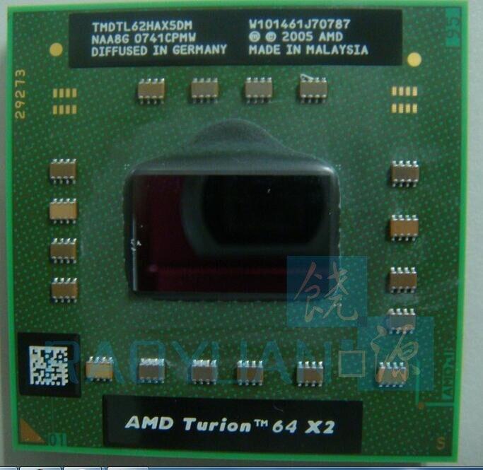 AMD del computer portatile cpu Turion TL-62 TL62 TL 62 TMDTL62HAX5DM CPU 1 M Cache/2.1 GHz/Socket S1/Dual-Core processore per Notebook