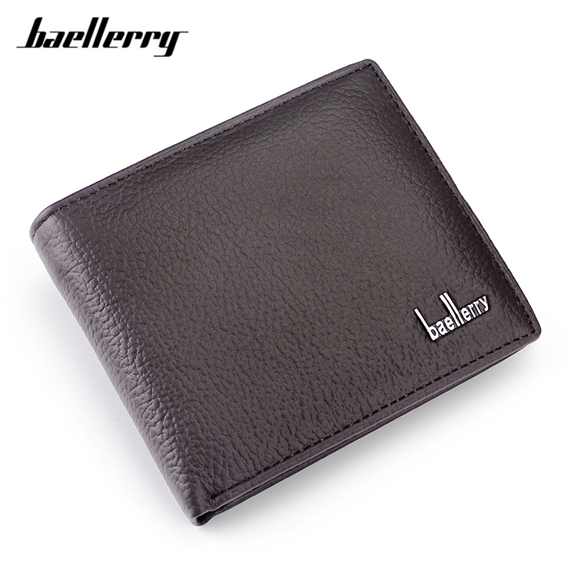 Baellerry Coin Purse Card-Holder Male Wallets Genuine-Leather High-Quality Carteira Cow title=