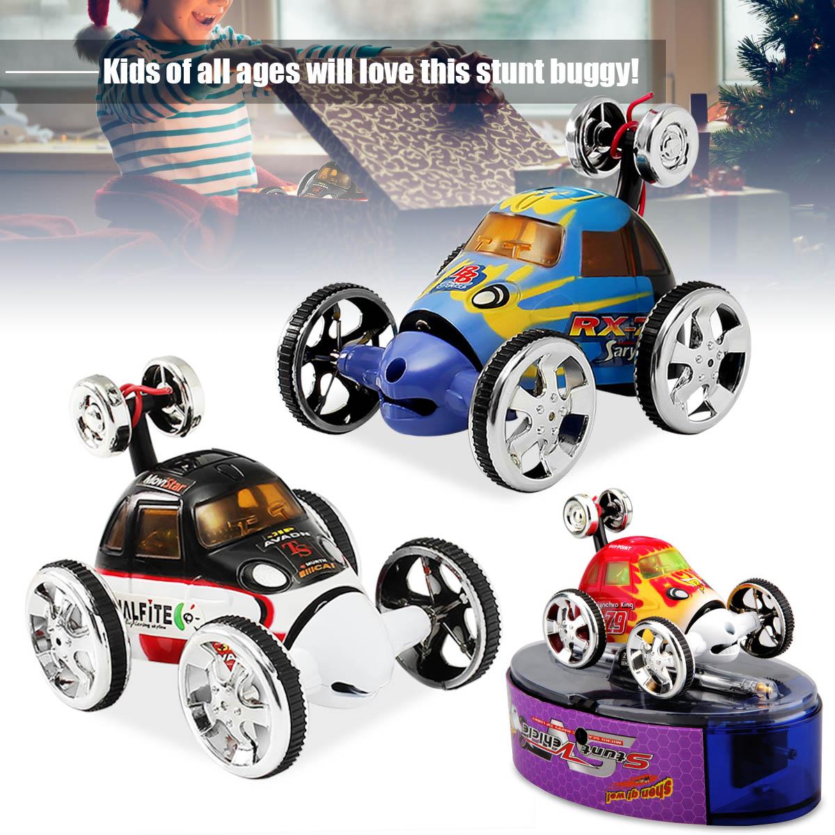 Mini Remote Control 360 Wheelie Stunt Bug Vehicle Micro Racing Spin Flip Twist