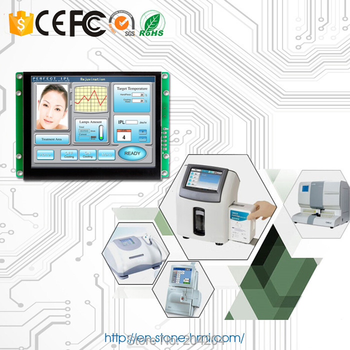 TFT Display Panel 5.6 Color Display LCD With RS232 / RS485 / USB InterfaceTFT Display Panel 5.6 Color Display LCD With RS232 / RS485 / USB Interface