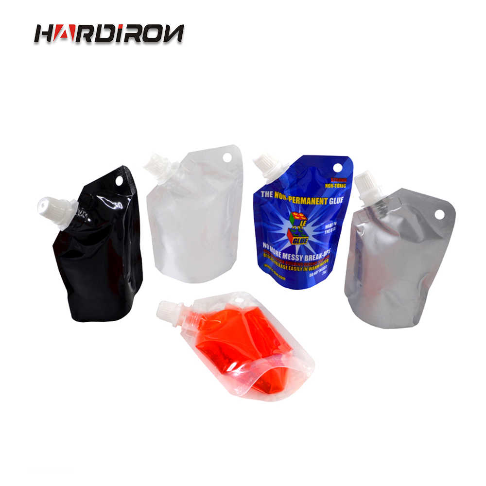 HARDIRON New Liquid Powder Self-supporting Nozzle Packaging Bag Food Grade General Sauce Juice Milk Beverage Pouch