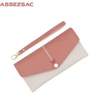 Assez Sac PU Leather Six Cards Women Wallet Popular Lady Concise Girls Hot Sale Versatile Fashion