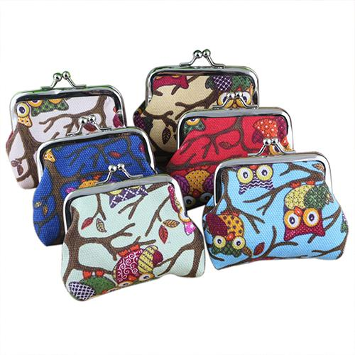 Women Cute Multi-Color Printed Coin Purse Wallet Canvas Pouch Money Bag Small Bag Woman Coins Holder Porte Monnaie Femme Gift