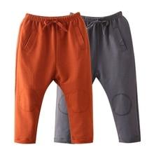 Baby Boy Girls Autumn Spring Full Length Pants Trousers baby Children Solid Leggings