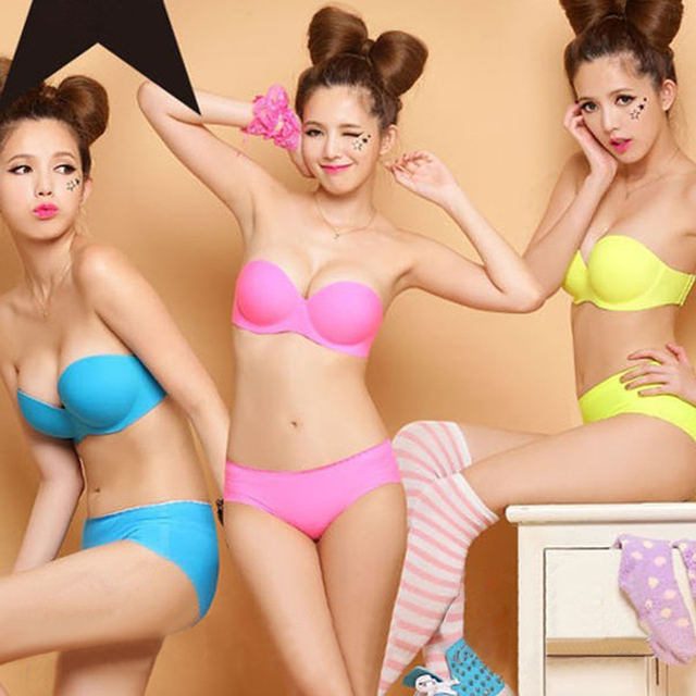 b8568829871 Free shipping wholesale full size one-piece colorful Seamless strapless  backless bra plus size large cup 180 pcs lot 756 usd