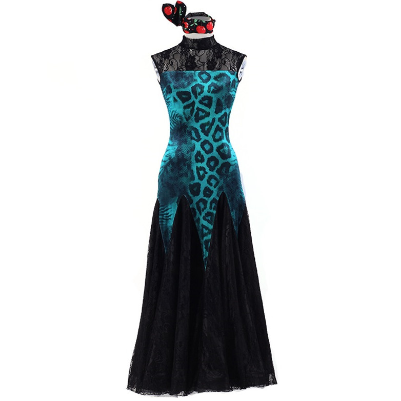 Show details for Lace Elegant Ballroom Dance Dress Woman Fringe Dress Ballroom Dancing Latin Ballroom Dress Flamenco Dance Costumes Tango W