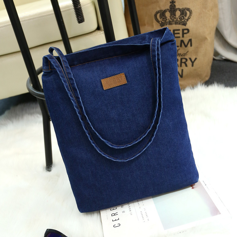 003 Single-Shoulder Bag Canvas Hand-Held Large Bag Simple Leisure Oblique Span Bag