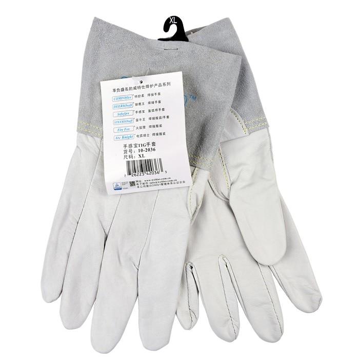 цена Leather Work Glove Welding Glove safety Glove Grain Goat TIG MIG Welder Glove