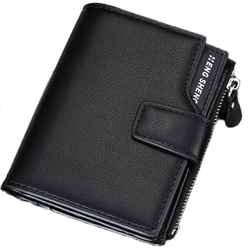 New Men Fashion Multi-function Business Leather Wallet Purse wallets mens wallet male HENGSHENG brand carteira masculina 227#5