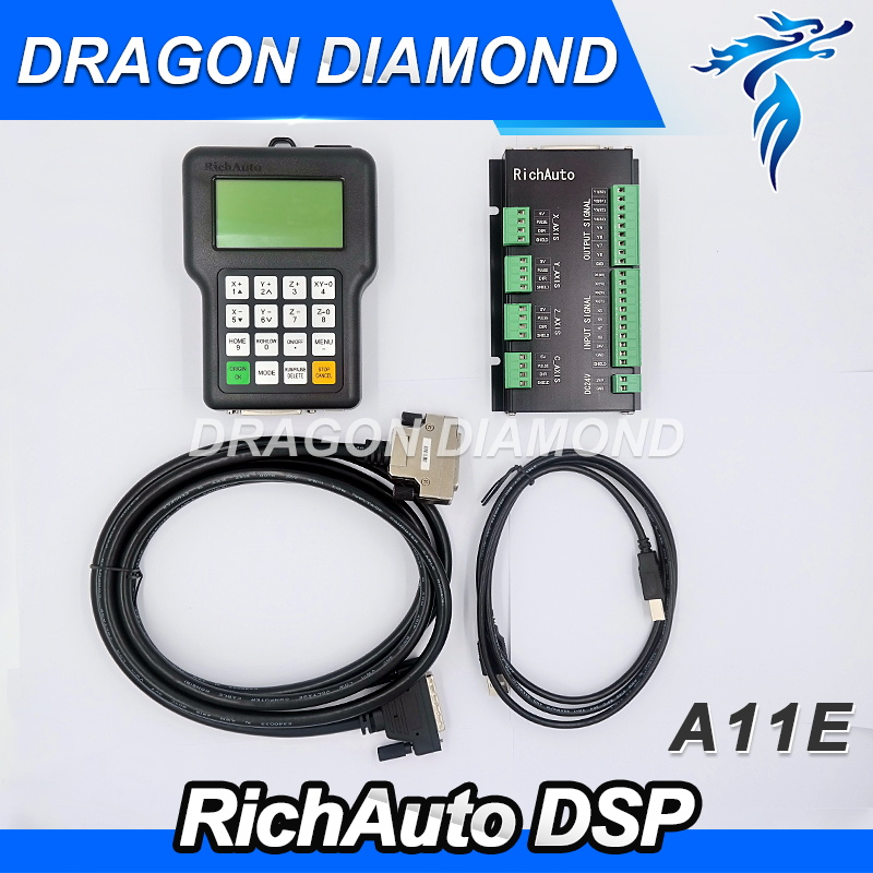 RichAuto A11 CNC DSP controller A11S A11E 3 axis ,replace DSP 0501 controller for cnc router machine dsp system 3d cnc router machine