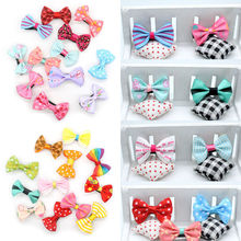 1PC Fahion Girls Children Bow Clip Ribbon Kids Duckbill Hair Mixed Hairpins