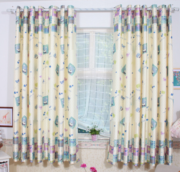 Size 2 0 finish product drapes free hook teddy kids for Childrens bedroom curtain fabric