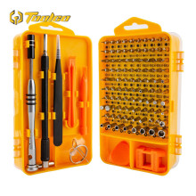 Toolgo 108 in 1 Screwdriver Set Chrome Vanadium Steel Multifunction Watch Mobile Disassembly Repair Tool