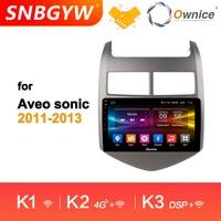 Ownice автомобильный аудио; стерео; GPS Navi 4G K1 K2 K3 Octa 8 Core Android 9,0 автомобильный dvd плеер для Chevrolet Aveo Sonic 2011 2013 DH200