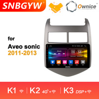 Ownice Car Audio Stereo GPS Navi 4G K1 K2 K3 Octa 8 Core Android 9.0 Car DVD Player For Chevrolet Aveo Sonic 2011 2013 DH200