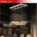 Mejor precio moderno restaurante lámparas rectangulares lámpara de cristal K9 Wave LED Crystal Light Bar restaurante luces de la sala