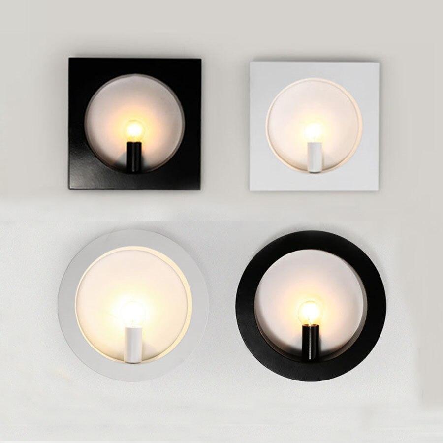 Wandleuchten Thrisdar 26x26 Cm Kreative Nordic Minimalist Led Wand Lampe Gang Korridor Hotel Hintergrund Wand Licht Schlafzimmer Nacht Wand Lampen