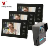 Yobang безопасности 7 дюймов домофон дверная станция с дверной звонок камера дверного звонка домофон системы видео домофон сенсорный экран