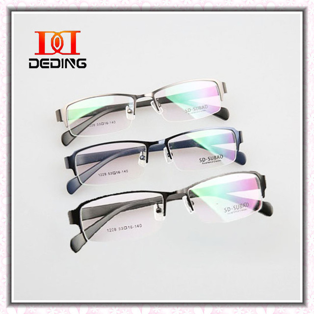 991f62ff864 2014 New Mens Eyeglasses Semi-rimless Optical Alloy Frame Male Widen Large  Clear Lens Glasses Fashion Brand Design DD0301-1