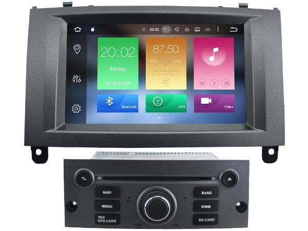 Octa 8 Core Android 6 0 CAR DVD player FOR PEUGEOT 407 car audio gps stereo