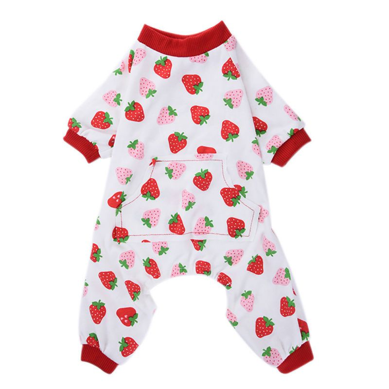 fb0ce97d6bd2 HOLD HONEY Dog Jumpsuits Overalls Clothes For Dogs Cotton Dog ...