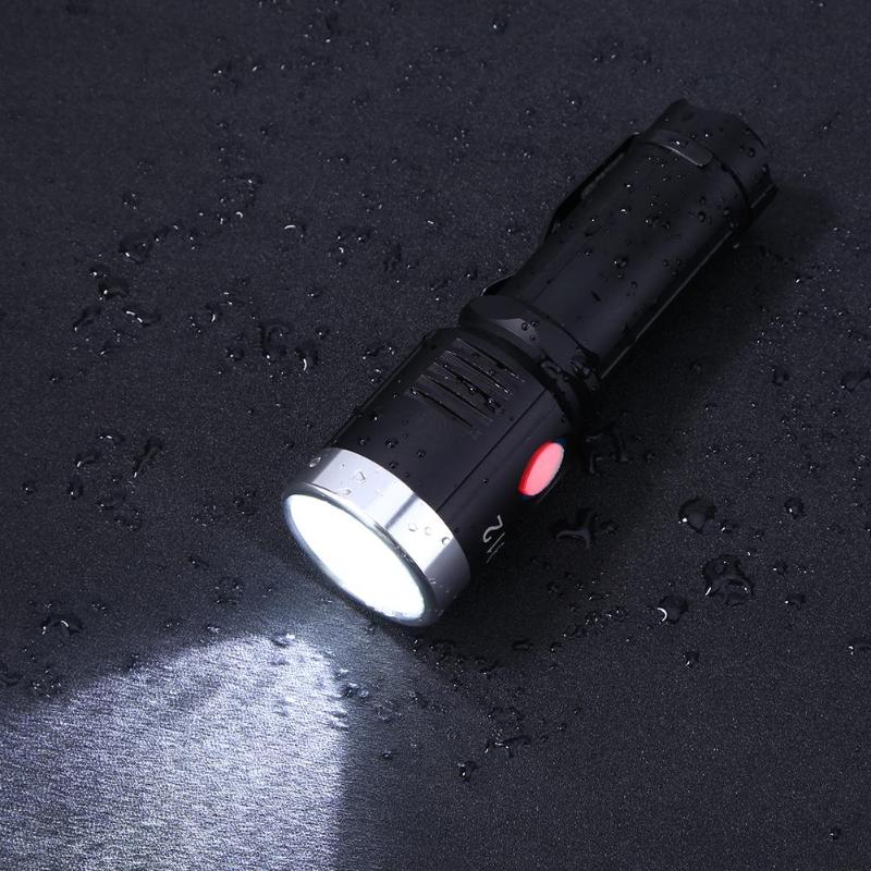 USB LED Waterproof Flashlight 26650 Rechargeable L2 1200LM Portable Ultra Bright Torch IP55 10W Aluminum Alloy Flashlight usb led flashlight torch 26650 rechargeable xml l2 red green blue led light flashlight led torch ultra bright self defense